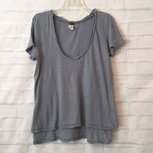 We the free double layer blue T-shirt sz Large